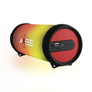 (MA) AXESS 1043 HI-FI BLUETOOTH SPEAKER WITH LED LIGHT - RED