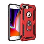 (2F) IPHONE 7 PLUS / 8 PLUS ARMY SHIELD STAND - RED