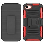 (2F) IPHONE 7 PLUS / 8 PLUS ARMOR STAND W/ HOLSTER - RED