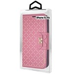 (01-CO) IPHONE X/XS RIBBON WALLET - HOT PINK (RETAIL PACKED)