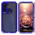 (01-NEW) SAMSUNG A11 3-IN-1 HEAVY DUTY TRANSPARENT CASE - BLUE
