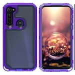 (01-NEW) SAMSUNG A11 3-IN-1 HEAVY DUTY TRANSPARENT CASE - PURPLE