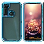 (01-NEW) SAMSUNG A11 3-IN-1 HEAVY DUTY TRANSPARENT CASE - SKY BLUE