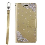 (P01) LG STYLO 4 / 4 PLUS TREASURE WALLET FLOWER - GOLD (RETAIL PACKED)