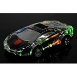 (1-KH) PORTABLE BLUETOOTH SPEAKER - LAMBORGHINI LED (BLACK)