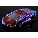 (1-KH) PORTABLE BLUETOOTH SPEAKER - LAMBORGHINI LED (RED)