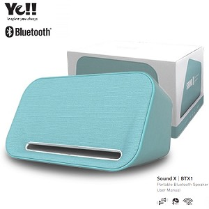 (1-SR) YE!! SOUND X BLUETOOTH SPEAKER WITH 2x10W OUTPUT - TEAL