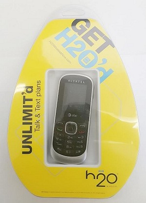ALCATEL 510A [NO CONTRACT] PHONE & PRE-FUNDED H2O SIM CARD