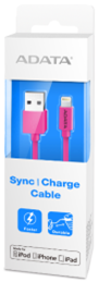 ADATA MFI IPHONE 6 CABLE 2.4AMP - PINK