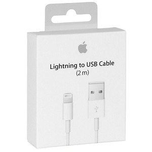 (1-SR) APPLE ORIGINAL 2M LIGHTNING TO USB CABLE - WHITE