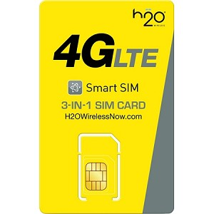 H2O $30 PLAN PRE-FUNDED SIM CARD