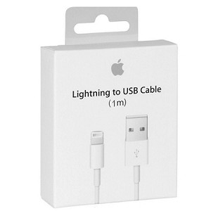 (1-SR) APPLE ORIGINAL 1M LIGHTNING TO USB CABLE - WHITE