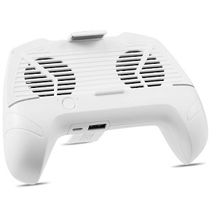(D01) MOBILE PHONE GAME CONTROLLER WITH BUILT-IN COOLER FANS AND POWER BANK - WHITE