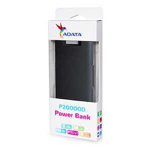 ADATA P20000 POWER BANK 20,000MAH - BLACK
