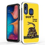 (B01) SAMSUNG A20 DUO SHIELD - DON'T THREAD ON ME FLAG