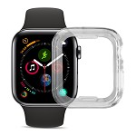 (D01) APPLE WATCH SERIES 5 / 4 44MM HIGH QUALITY CRYSTAL SKIN CASE  - CLEAR