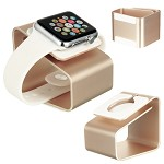 (D01) APPLE WATCH CHARGING METAL STAND GOLD