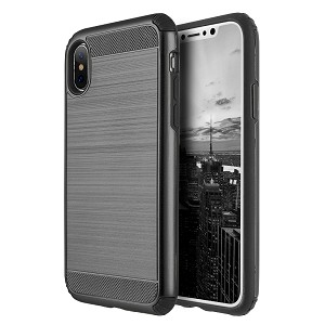 (D01) IPHONE X/XS THE SILKEE ARMOR ANTI SHOCK PC + TPU DUAL HYBRID CASE - BLACK