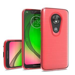 (2F) MOTO G7 PLAY  BRUSHED CHROME - RED
