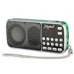 (MA) PORTABLE MULTI FUNCTION MP3 FM/AM H1-AM SPEAKER - GREEN