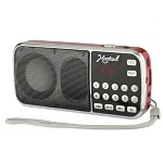 (MA) PORTABLE MULTI FUNCTION MP3 FM/AM H1-AM SPEAKER - RED