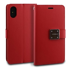 IPHONE X/XS MODEBLU MODE DIARY - RED (RETAIL PACKED)
