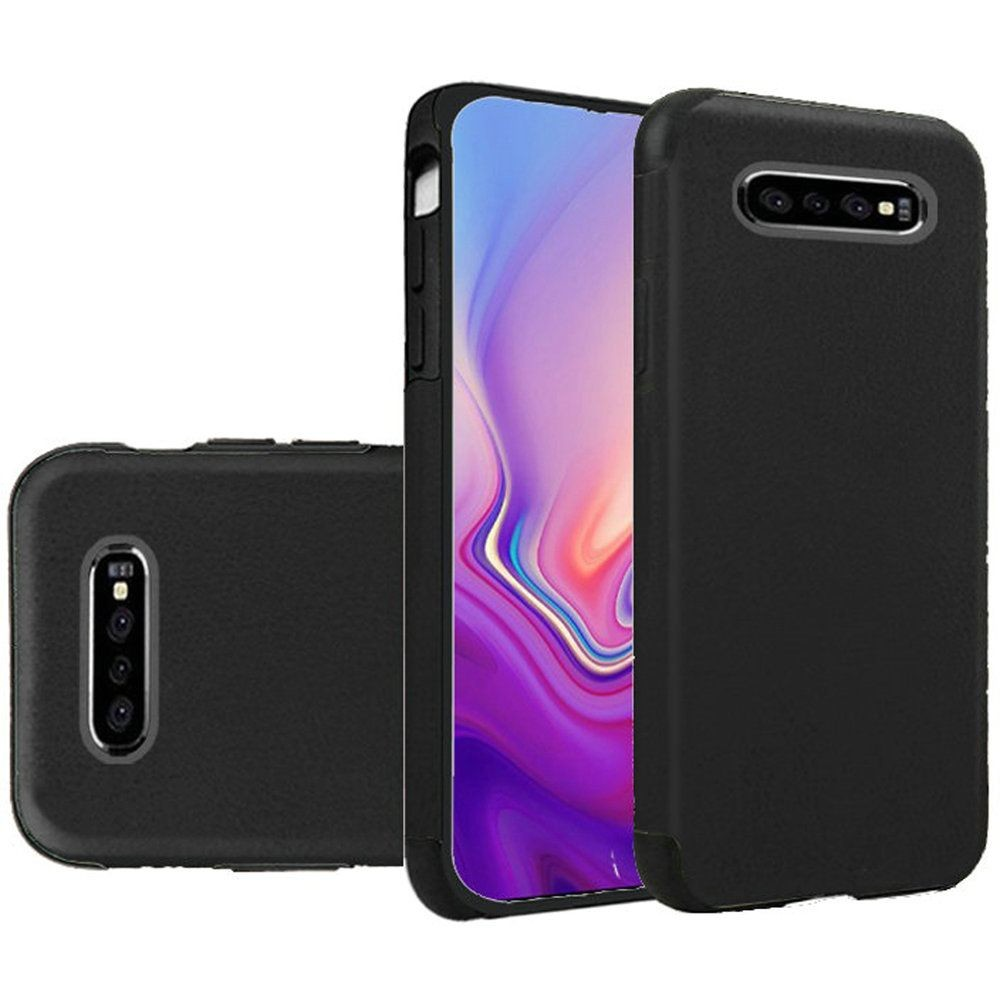 "(1H) SAMSUNG S10E (5.8"") PREMIUM SERIES LIGHT THIN NON-SLIP TPU CASE - PU LEATHER DESIGN BLACK (RETAIL PACKED)"