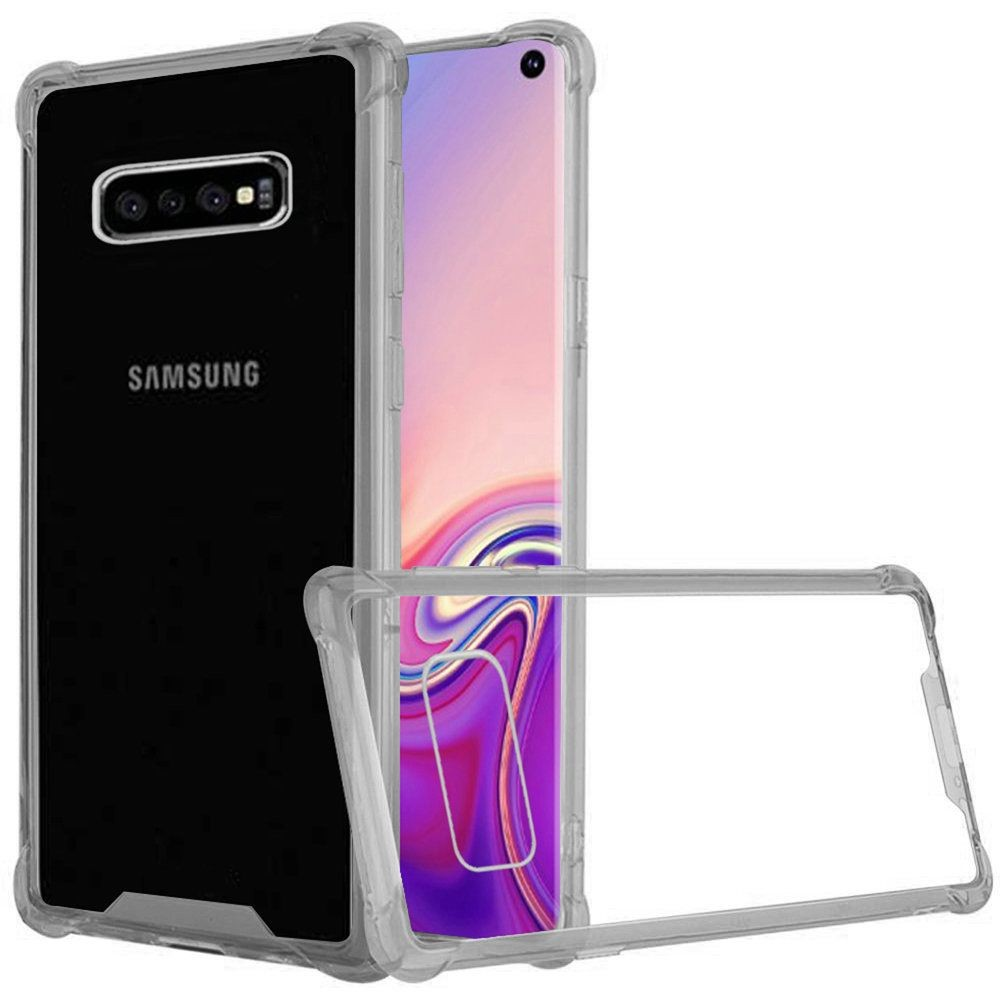 "(1H) SAMSUNG S10E (5.8"") PREMIUM SHOCKPROOF BUMPER TRANSPARENT PC TPU - CLEAR/SMOKE (RETAIL PACKED)"